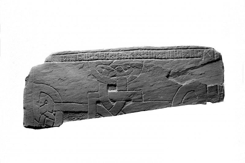 Iona Abbey museum No.42. Fragment of runic inscribed slab. I Fisher 2001, p.130 (69).