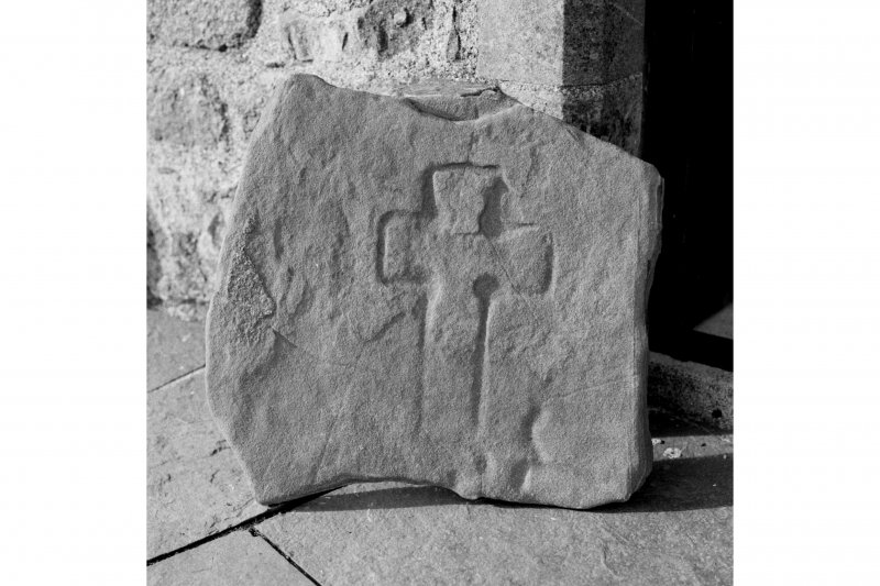 Iona, Iona Abbey Museum.  View of stone incised with Early Christian cross.