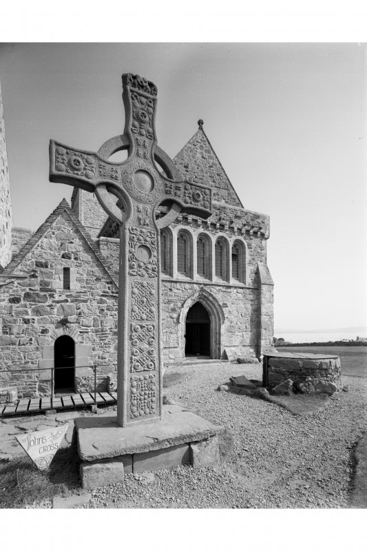 Iona, St John's Cross. View from North-West.