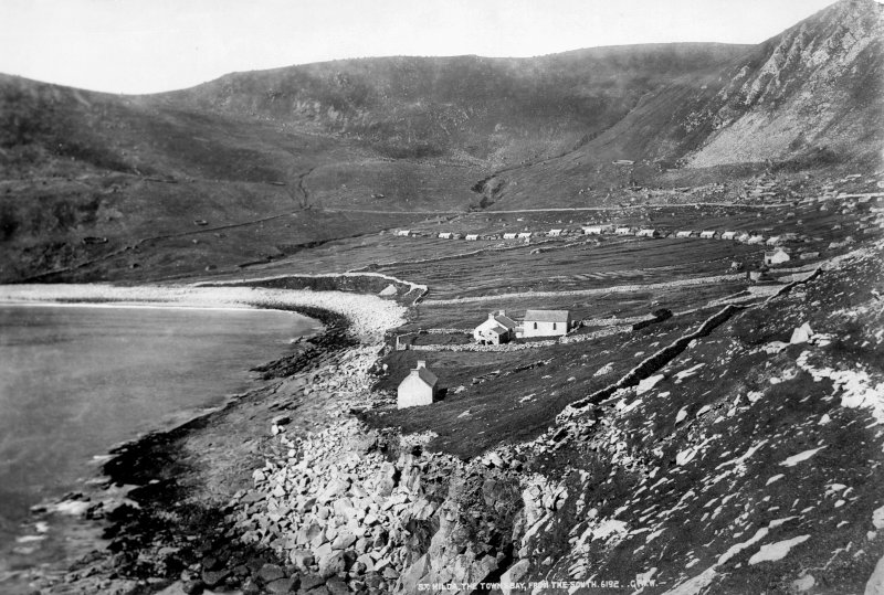 St Kilda Village. General view from East across bay. Titled: 'St. Kilda, the Town Bay, from the South. 6192. G.W.W.'