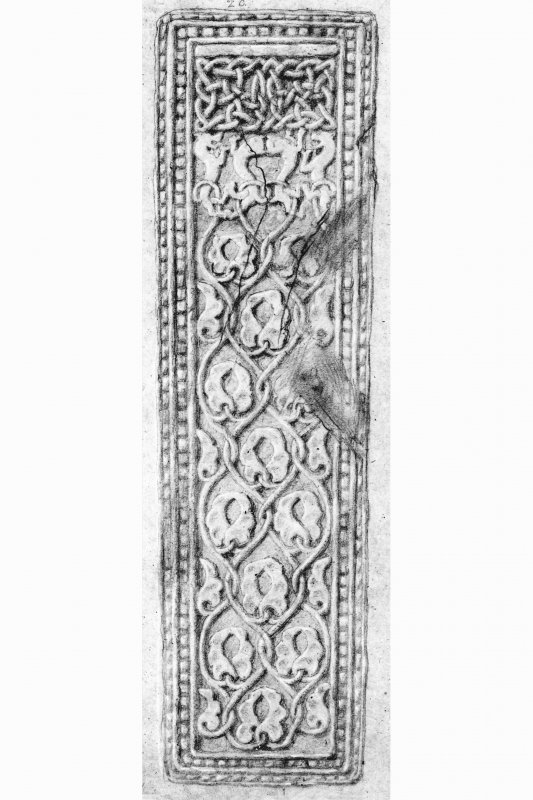 Iona, St Oran's Churchyard. Plan of carved grave-slabs.