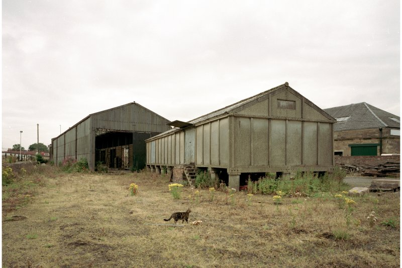 View from North East of Goods Station Building, and adjacent concrete building