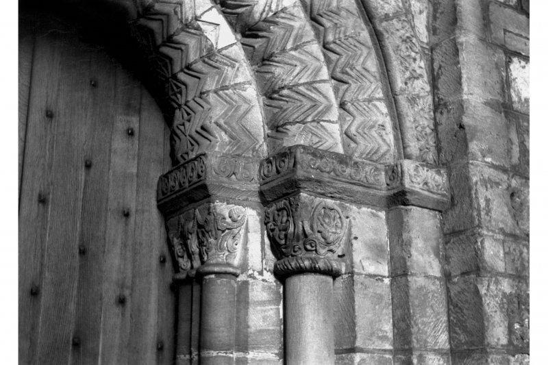 Detail of East doorway, New Abbey Parish Kirk