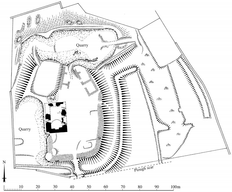 Plan of Torthorwald motte and tower-house: publication drawing for Inventory of Eastern Dumfriesshire. Unattributed, [1996].