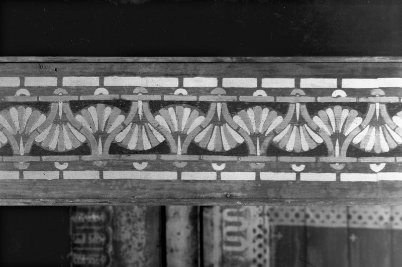 1 Caledonia Road, Caledonia Road Church, interior View of painted decoration on roof beam