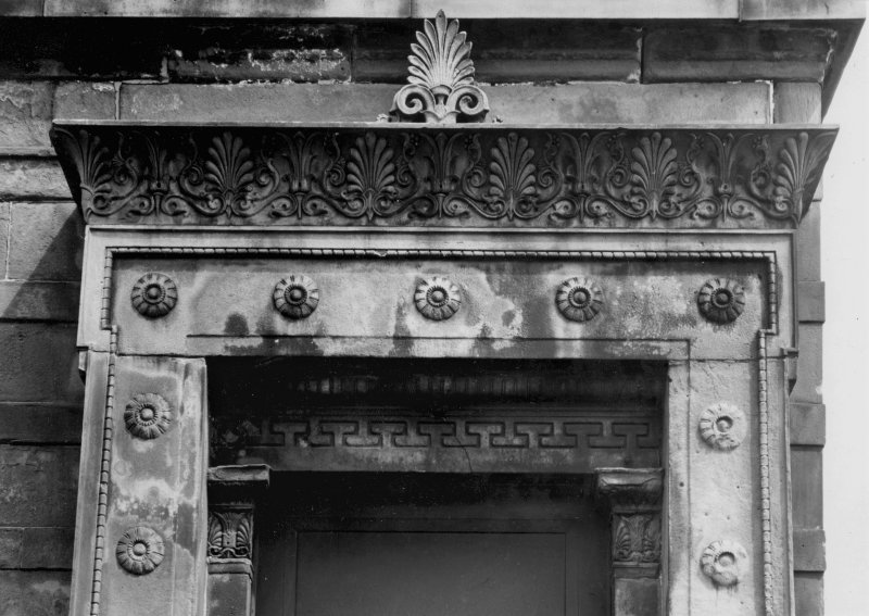 1 Caledonia Road, Caledonia Road Church Detail of doorway decoration