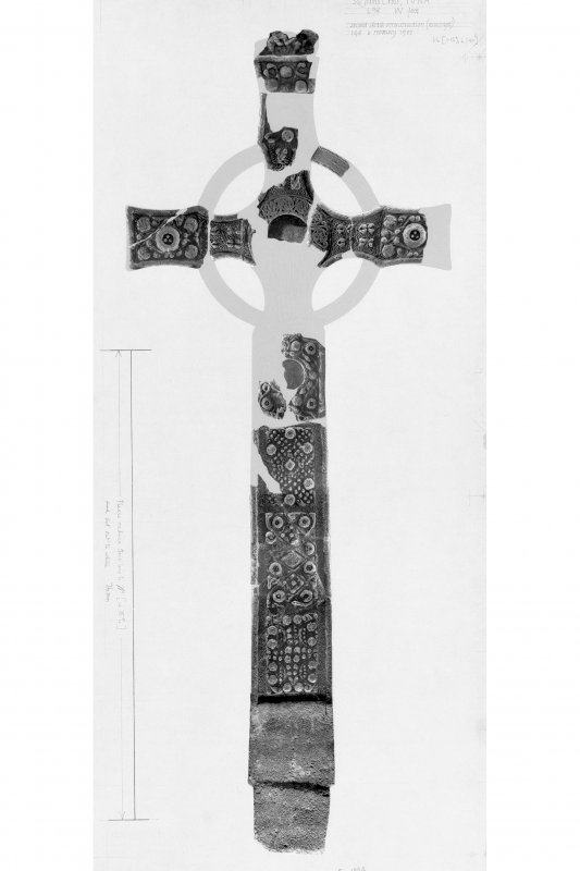 St John's Cross, Iona. Photographic reconstruction of W face.