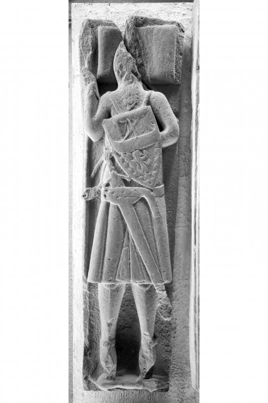 Iona, general. View showing effigy of unknown armoured warrior.