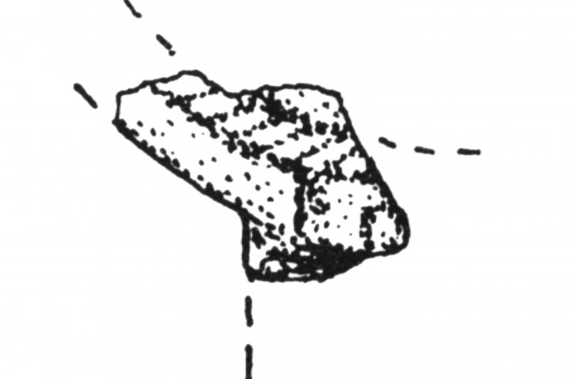 Excerpt of drawing showing cross fragment (Inventory No. 6 218)