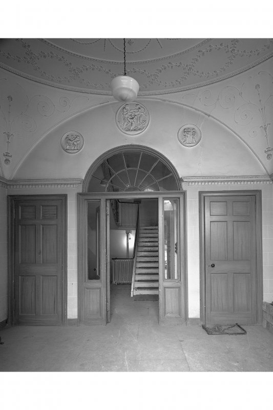 Ground floor, entrance lobby, view from North