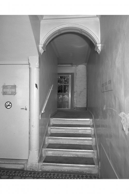 View of Scale and Platt staircase of room 2
