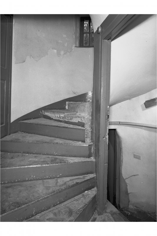 View of spiral staircase, room 3