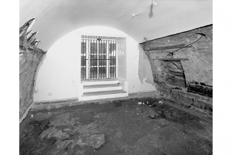 View from North East showing blocked openings in the vault, room 10