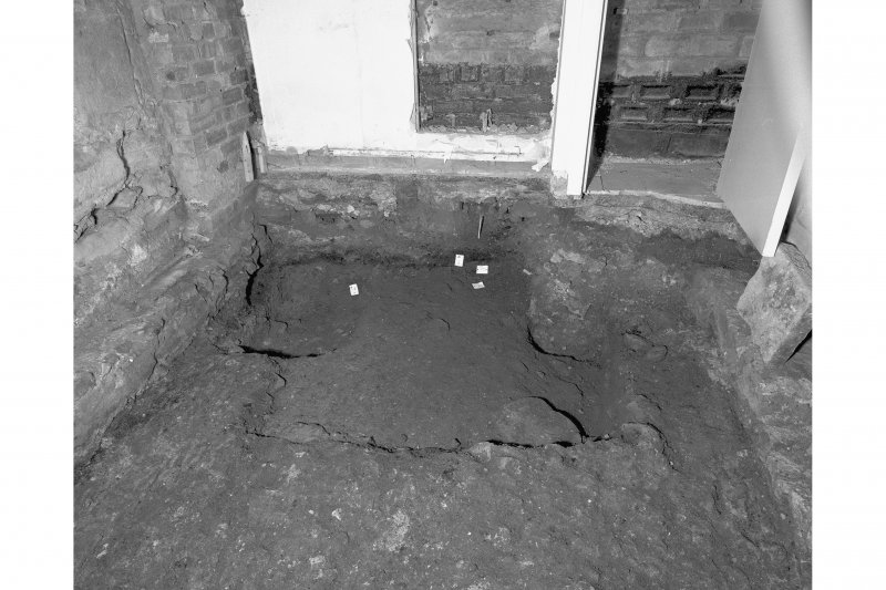 View of floor with metalled road exposed, room 11