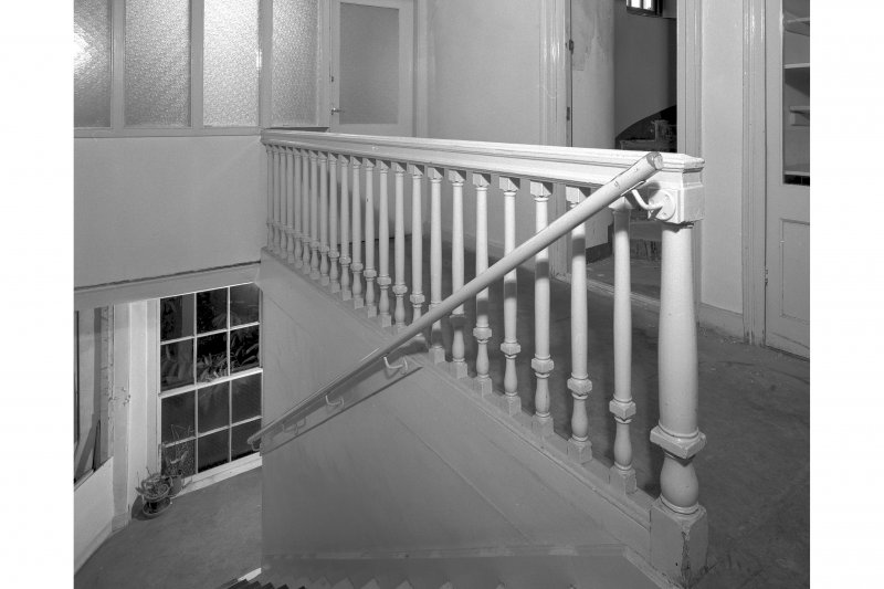 View of staircase from North East, room 13