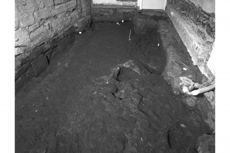 View of floor showing metalled road, room 11