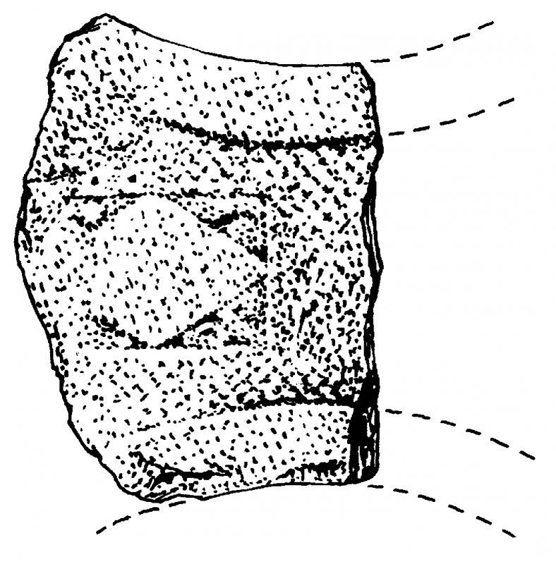 Nave Island. Survey drawing of cross arm fragment.