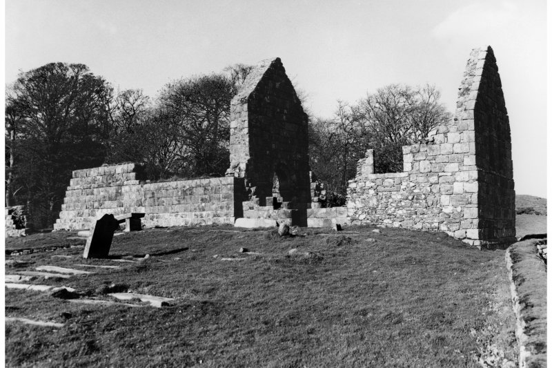 Scanned image of St Blane's Church, Bute.