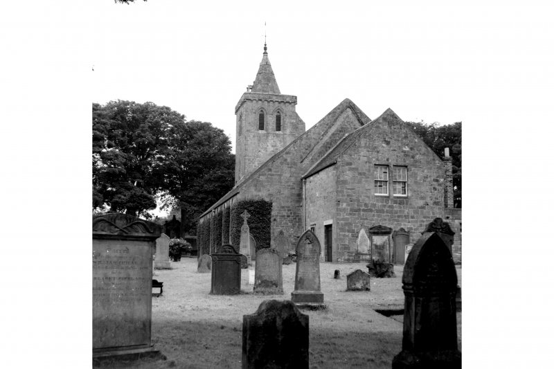 Part view from north east of Church and churchyard