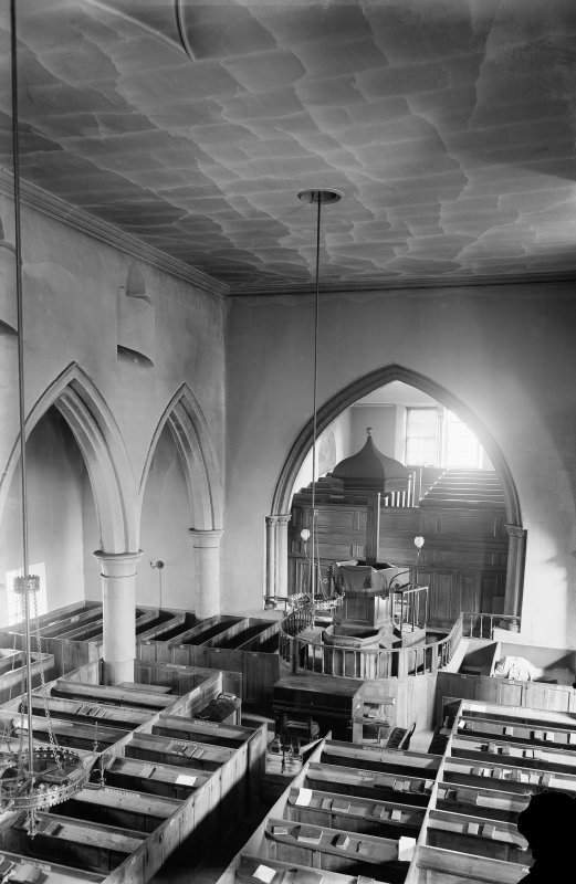 Crail, Parish Church. Interior view.
