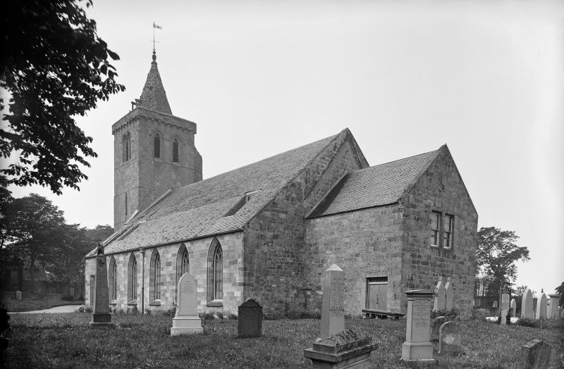 Crail, Parish Church. View of Church and churchyard from east.