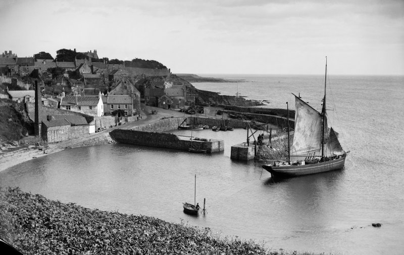 View of Crail harbour, Shoregate, from south west.