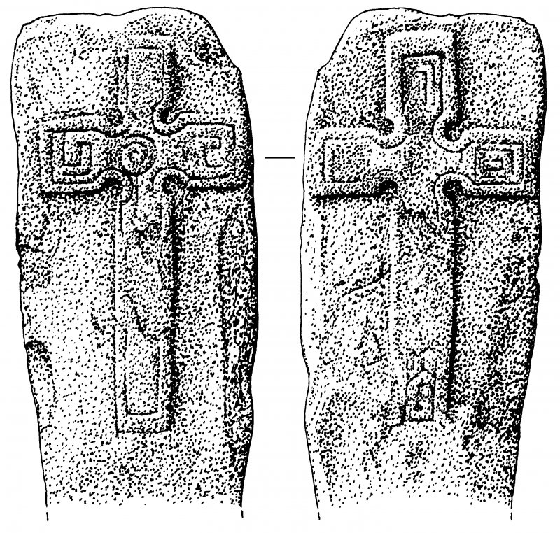 Cross-slab, view of both faces.