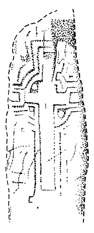 Slab, with incised ringed cross.