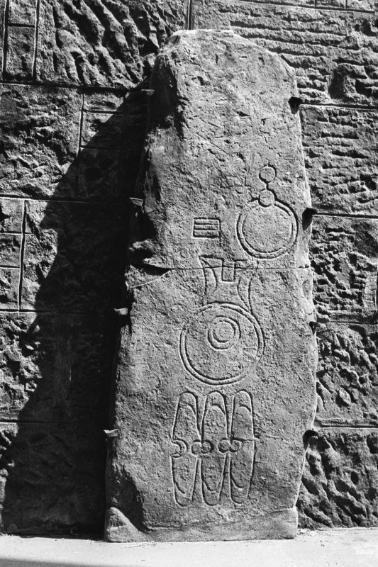 Photograph of Pictish symbol stone.