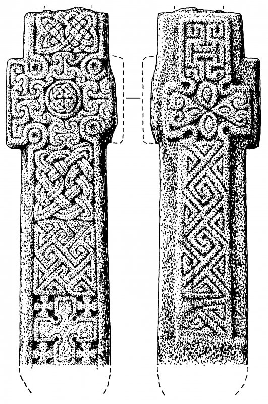 Publication drawing; early Christian cross (4), Kilmartin