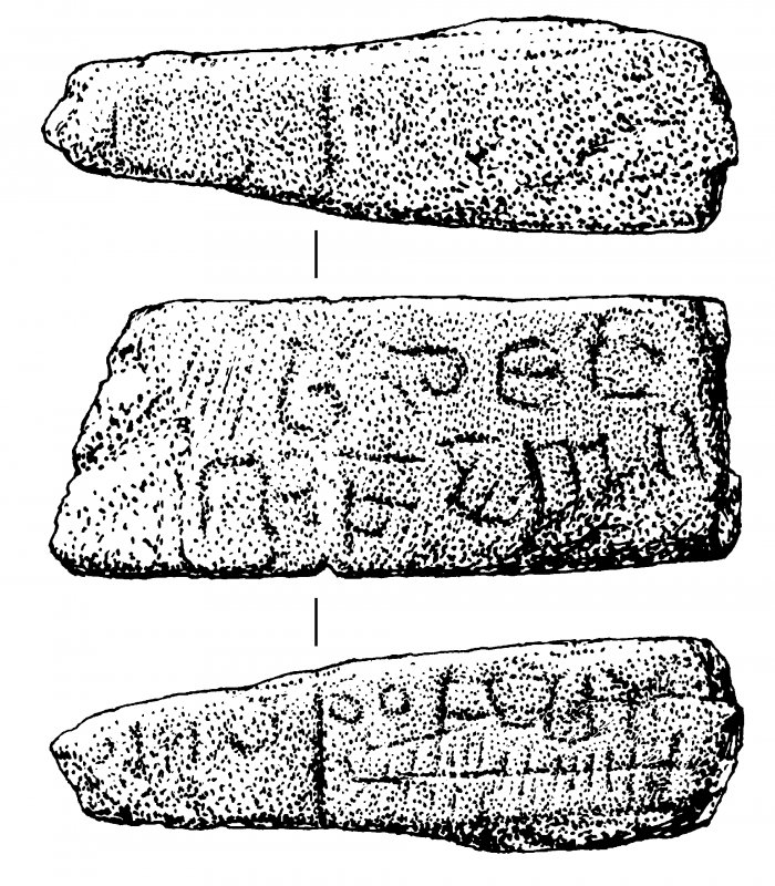 Inscribed stone.