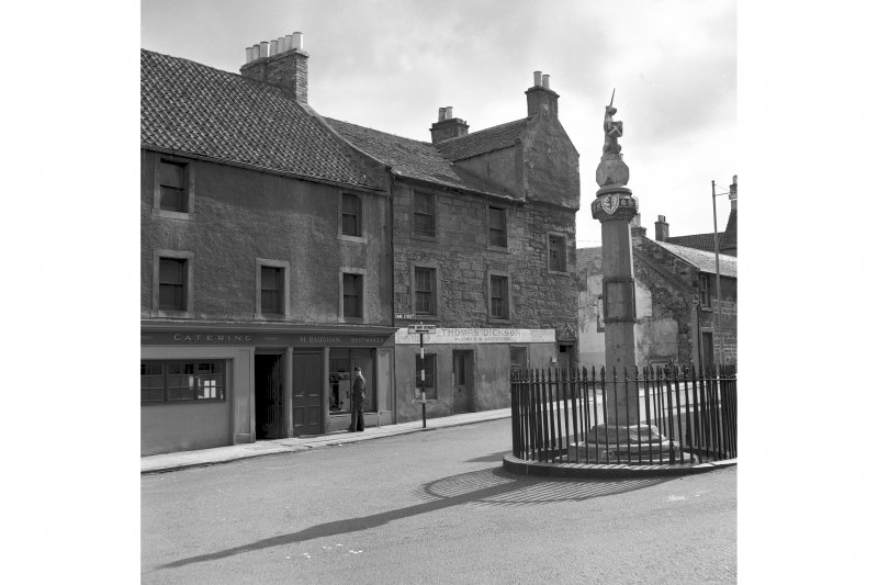 5 Bank Street and 7, 11 Townhall Street General view with Market Cross
