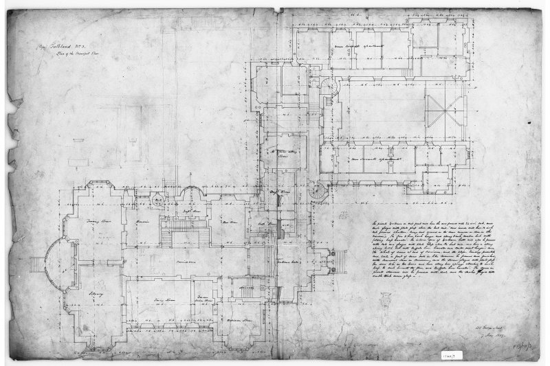 Photographic copy of plan of principal floor showing dimensions. Insc: '131 George Street 7 May, 1839'