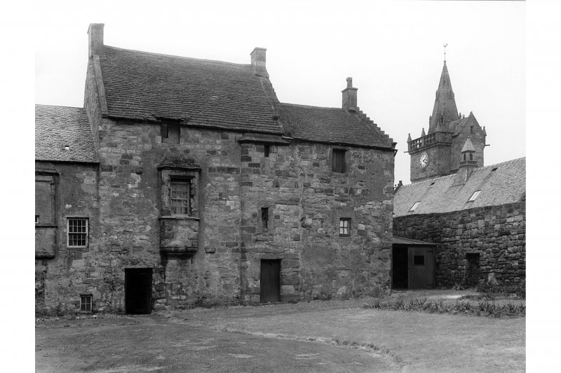 View from east of Great House with Tolbooth Steeple in backgound by Valentine & Sons  Ltd, Dundee, (A9890)