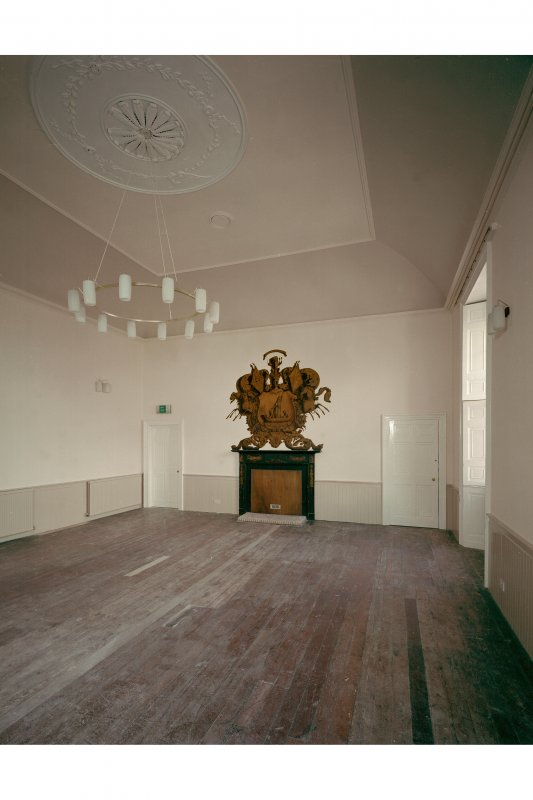 1821 addition (Town Hall), first floor, main hall, view from North West