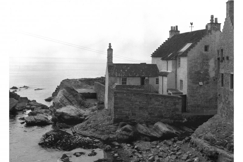 Gyles House, View of rear over rocks.