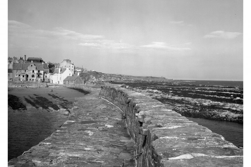View of the Gyles from end of Harbour wall.