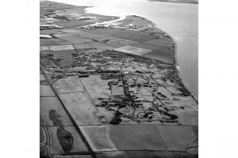 Scanned image of an oblique aerial view.