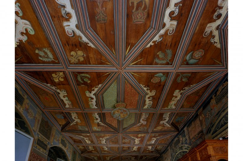 Falkland Palace, Interior, Chapel ceiling from the East