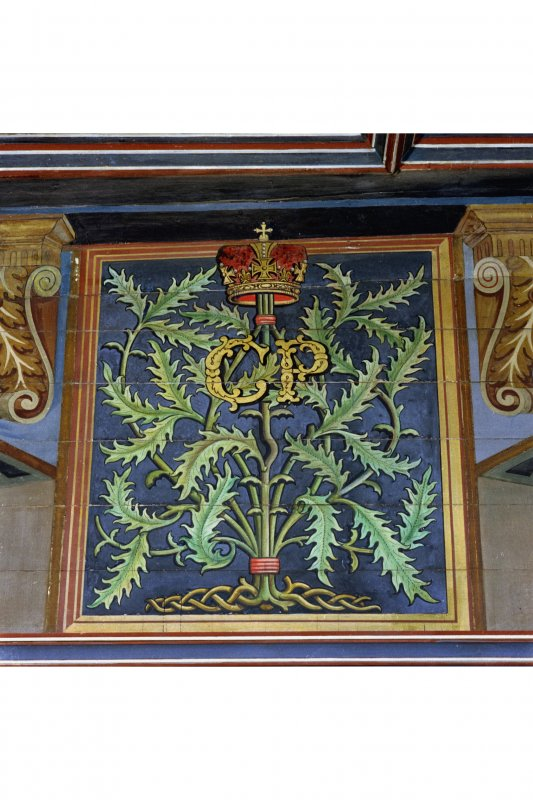Falkland Palace, Interior, painted decoration on North wall of Chapel