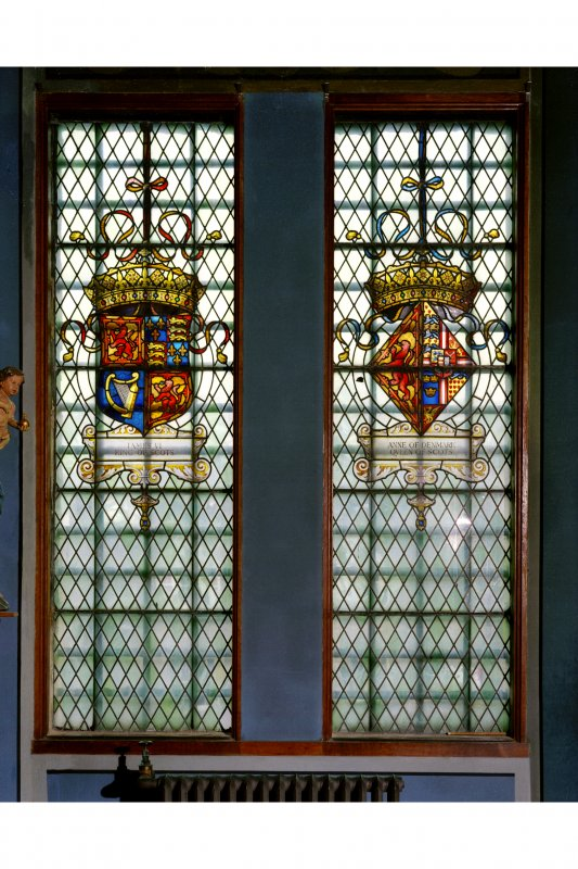 Falkland Palace, Interior, window in South wall of Chapel