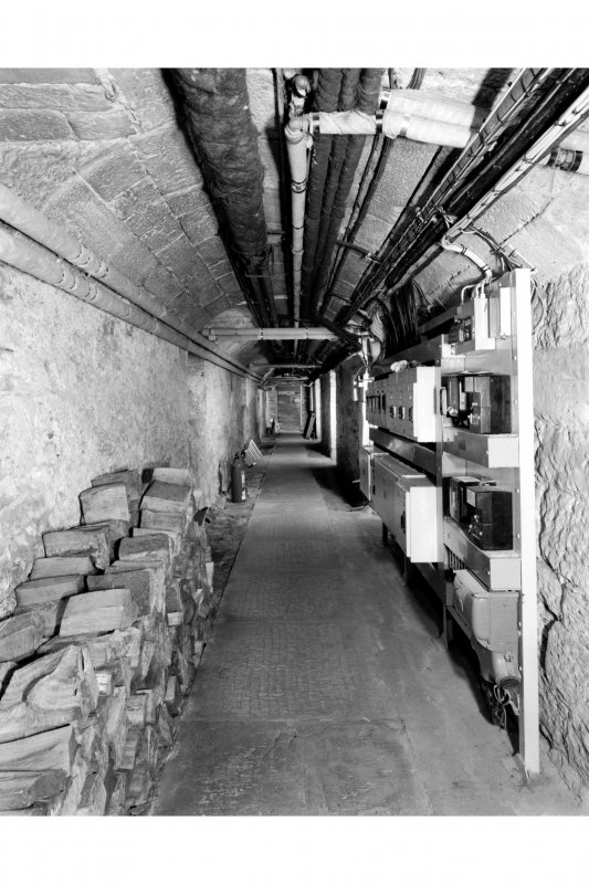 View of basement corridor looking East, South range