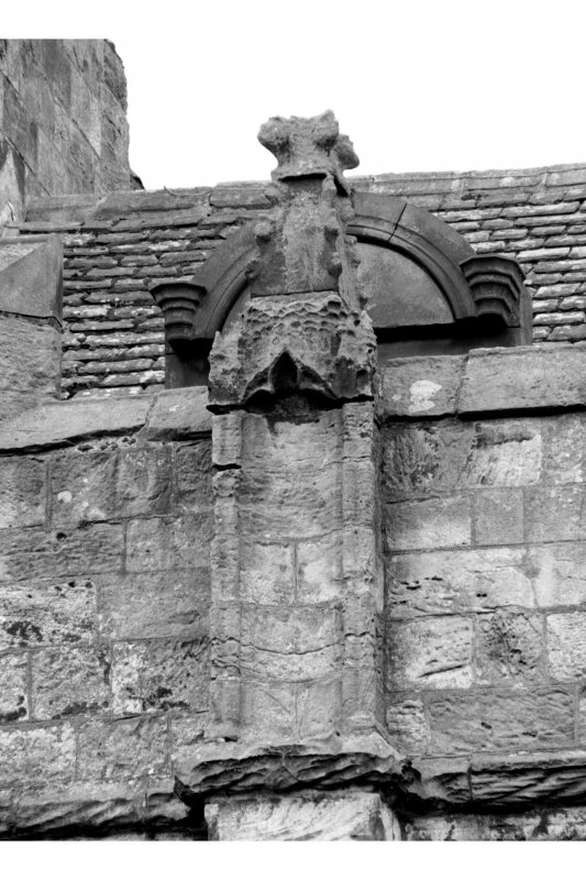 Detail showing pinnacle on buttress, South front of the South range