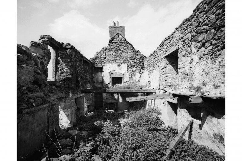 Old Mains of Rattray House, interior General view from East.