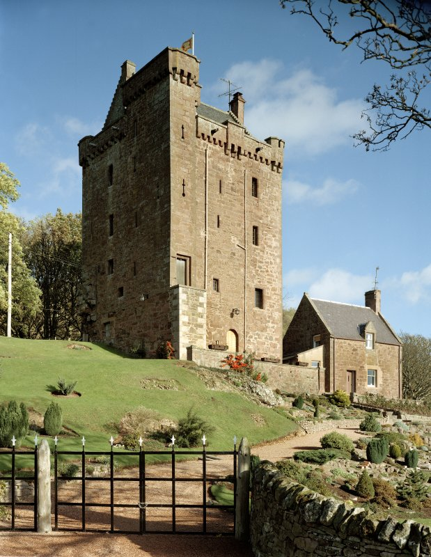 Kinnaird Castle. General view from South-West.
