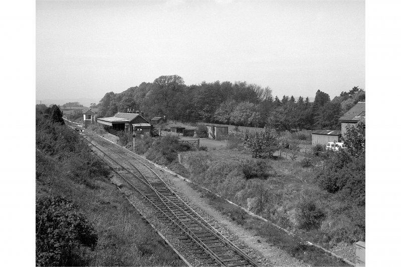 Abernethy Road, Station. Station building and signal box