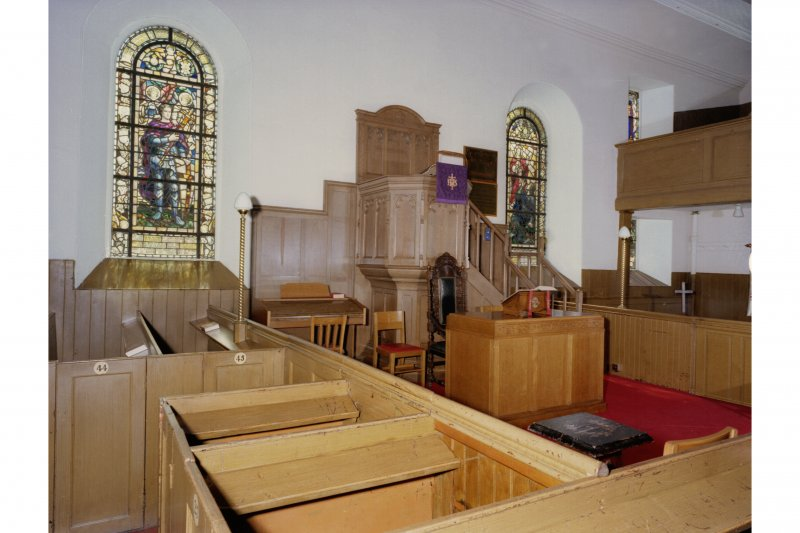 Strathmiglo Parish Church, Kirkwynd. Interior, view from North East.