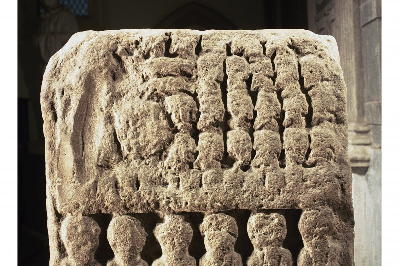 Dunkeld, Dunkeld Cathedral, Apostle's Stone. Detail of back view.