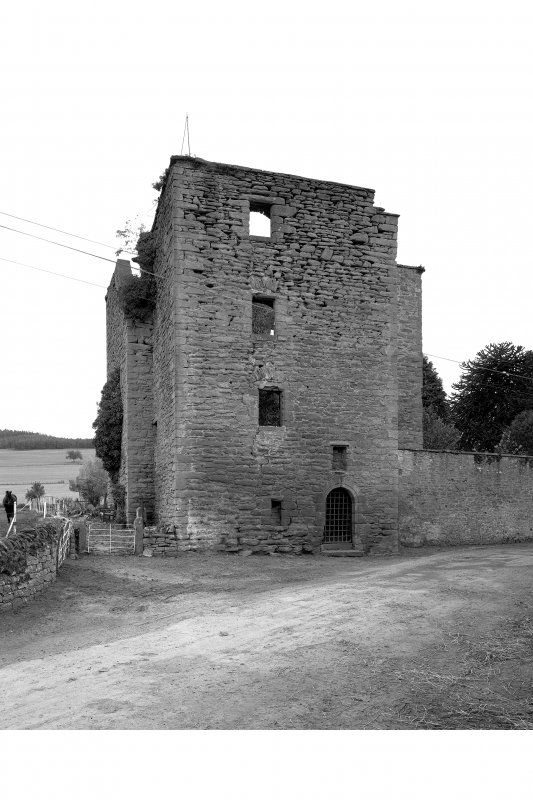 Pitcur Castle, Tower House View from North.