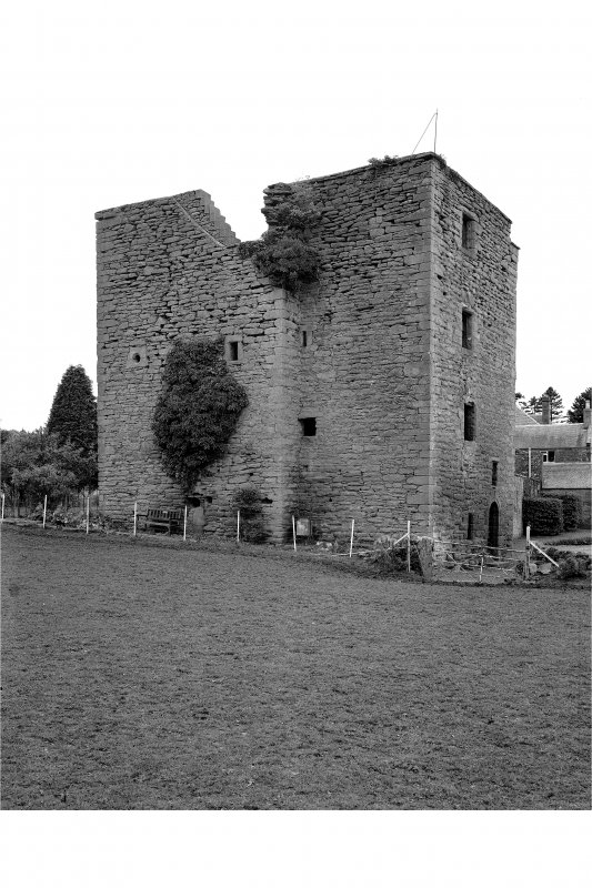 Pitcur Castle, Tower House View from East.